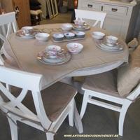 ronde, massief grenen tafel, Antiek & Interieur Den Ouden Overzet, Melsele