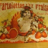 """Placemat """"Tartelet aux fraises"""""""