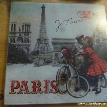 "Pottenplankje ""Paris je t'aime"""