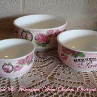 Setje 3 porcelein kommetjes