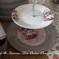 """Taartschaal porcelein """"Mille Roses de Paris"""""""