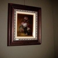 Schilderij bloemenstilleven.