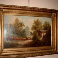 Schilderij boshuisje