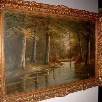 Schilderij boslandschap