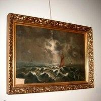 Schilderij Marine, nocturne.