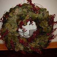 Kerst : Kerstkrans met blad en besjes.