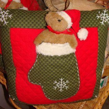 Kerst : Kussen Boyds Home Coll. beertje.