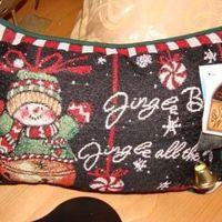 Kerst : Susan Winget kussentje Jingle Bells.