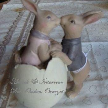 Paasdeco : Hunny en Luvy Bunny