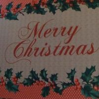 "Voetmat ""Merry Christmas"""
