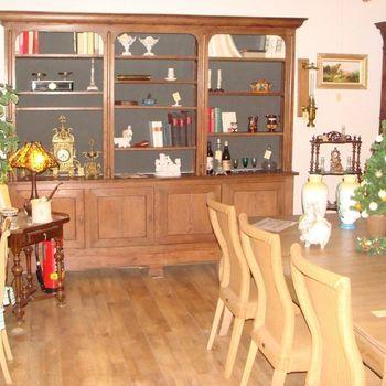 Boekenkast (open) in eik Louis Philippe stijl