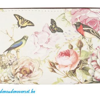 "Portemonnee "" Birds, Butterflies and flowers"""
