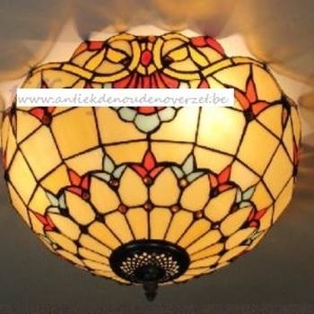 Plafondlamp tiffany, waaier boord DOO1710/008