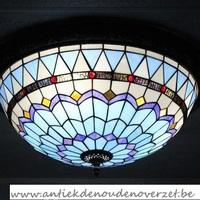 Plafondlamp tiffany, gestyleerd met parels DOO1710/015