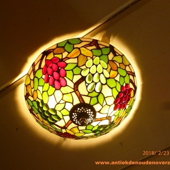 Plafondlamp tiffany, druif in kleuren DOO1710/017