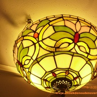 Plafondlamp tiffany, Art Deco DOO1710/018