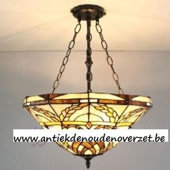 Plafondlamp tiffany, gouden korenaren DOO1710/021