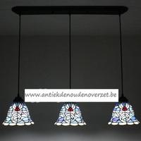 Plafondlamp pendant, blauwe klokjes DOO1710/032