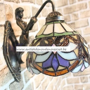 Wandlampje tiffany, engel met waaier DOO1710/038