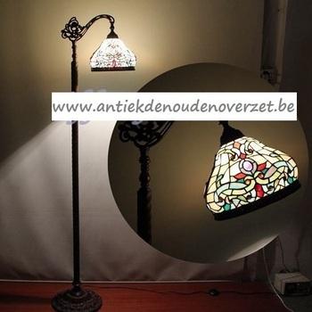 Vloerlamp tiffany, gestyleerd, down DOO1710/053