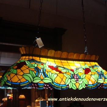 Biljarttafellamp tiffany, druivenranken DOO1710/056