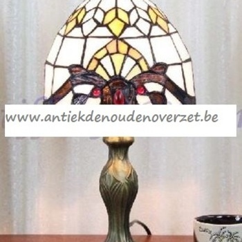 Tafellamp tiffany, Art Deco motief DOO1710/080
