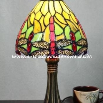 Tafellamp tiffany, libel in groen DOO1710/083
