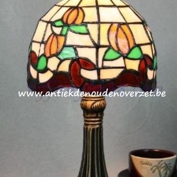 Tafellamp tiffany, oranje tulpen DOO1710/085