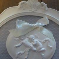 "Decoratief geurkader medaillon ""Poudre de Riz""."