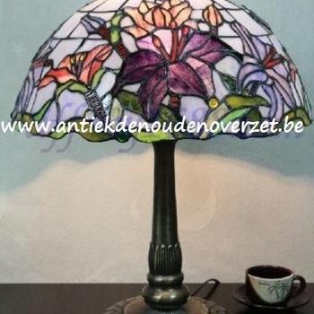 Tafellamp tiffany, lelies DOO1710/139