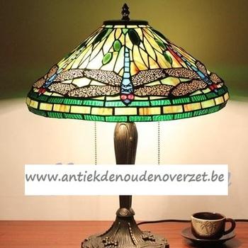 Tafellamp tiffany, blauwe libellen DOO1710/160