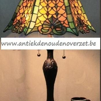 Tafellamp tiffany, groene weelde DOO1710/146