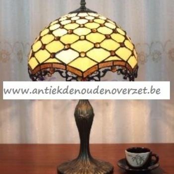 Tafellamp tiffany, gouden parels DOO1710/128
