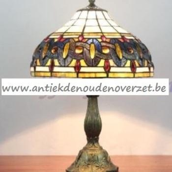 Tafellamp tiffany, irriserend kettingmotief DOO1710/129