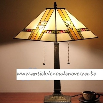Tafellamp tiffany, Art Deco in carré DOO1710/135