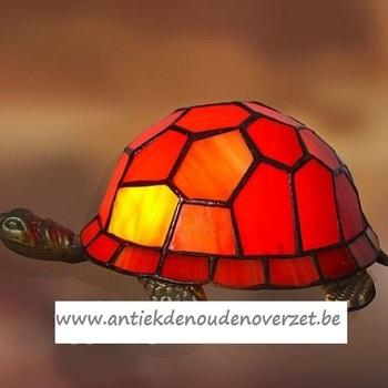Tafellamp tiffany, schildpad oranje DOO1710/174