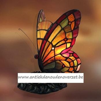 Tafellamp tiffany, butterfly warme tinten DOO1710/177