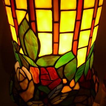 Tafellamp tiffany 5464n, champignon natuurkleur