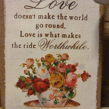 """Prent """"Love doesn't make the world go round"""""""