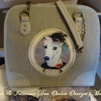 """Handtas/citybag """"Demoiselle de grande allure"""""""