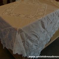 """Tafeldoek """"Table d'autrefois"""", wit"""