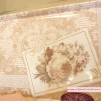 "Dienblad/tray, groot ""Roses and Lace"""