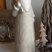 Kerstman, primitive folk art, zilver