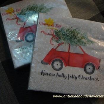 "Servetten papier ""Have a holly jolly christmas"""