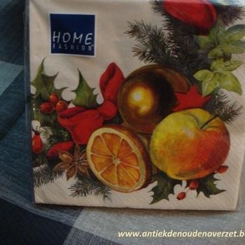 """Servetten papier """"Kerstkrans met appeltjes"""""""