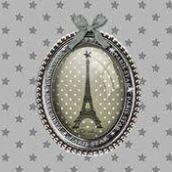 "Foulard voile ""Paris Star"""