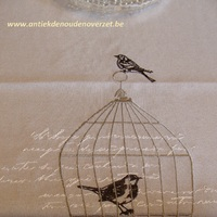 "Tafelrunner ""Bird in a cage"""