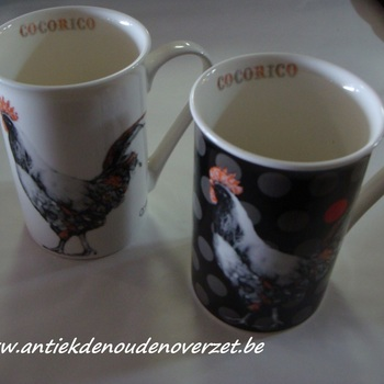 """Beker/mug """"Cocorico"""" hen"""