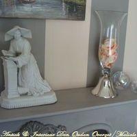 Vaas met spiegelvoet