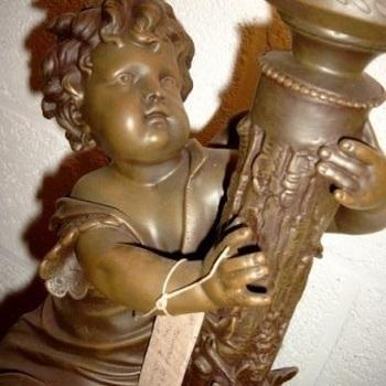 Tafellamp engel groot